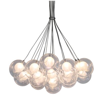 Welles Suspended Globe 19-Light LED Cluster Pendant