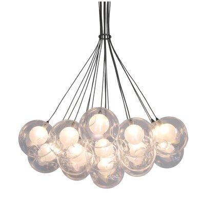 Corns Suspended Globe 19-Light LED Cluster Pendant