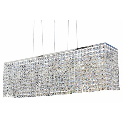 Miami 6-Light Kitchen Island Pendant Finish: Chrome