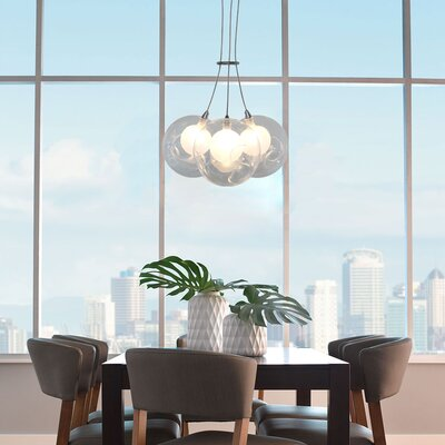 Welles 3-Light LED Globe Cluster Pendant
