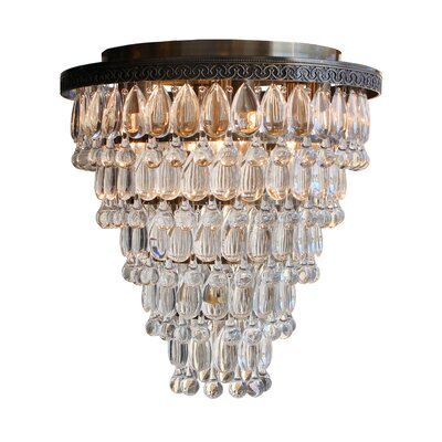 Dix 7-Light Crystal Flush Mount Finish: Antique Brass