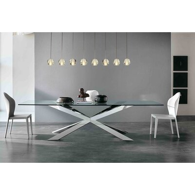 Mccoin 8-Light Globe LED Kitchen Island Pendant Finish: Brushed Nickel