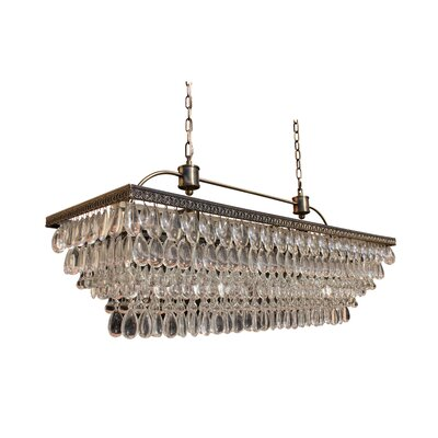 Dix 6-Light Crystal Chandelier Finish: Antique Brass