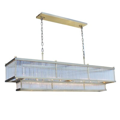 Sibyl 8 Light Rectangular Crystal Chandelier