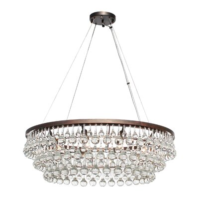 Fabrice 10-Light Crystal Chandelier Finish: Oil Rubbed Bronze