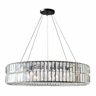 Jacques Round 10-Light Crystal Chandelier