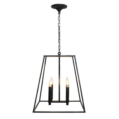 Gawon 4-Light Geometric Pendant Finish: Antique Silver