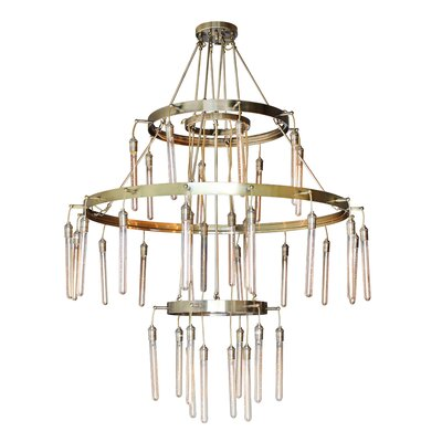 Yanis 38-Light Geometric Pendant