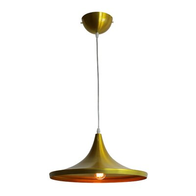 Astra Brass 1-Light Inverted Pendant
