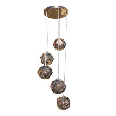 Cassel Globe 5-Light Mini Chandelier Finish: Rose Gold