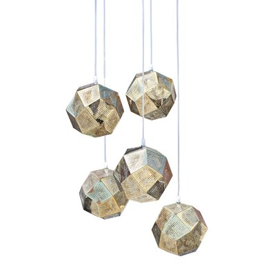 Cassel Globe 5-Light Mini Chandelier Finish: Gold