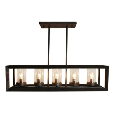 Perino 5-Light Kitchen Island Pendant Finish: Antique Copper