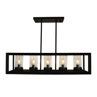 Perino 5-Light Kitchen Island Pendant Finish: Black