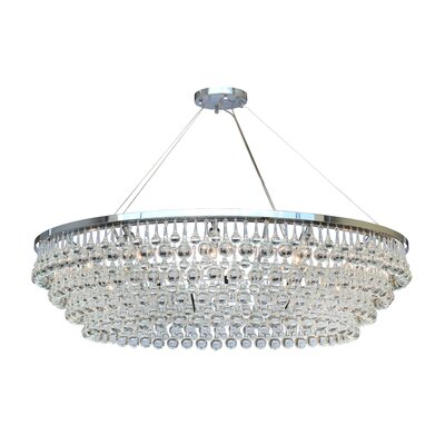 Jimmy Glass Drop 12-Light Crystal Chandelier Finish: Chrome