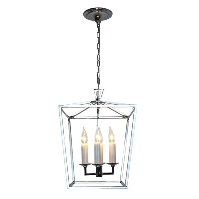 Lyn 4-Light Lantern Pendant Finish: Chrome