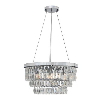 Anwen Drum 6-Light LED Crystal Chandelier Finish: Chrome