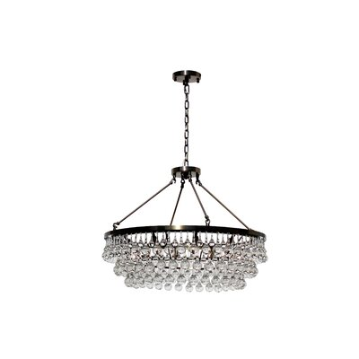 Sheneka 10-Light Crystal Chandelier Finish: Antique Brass
