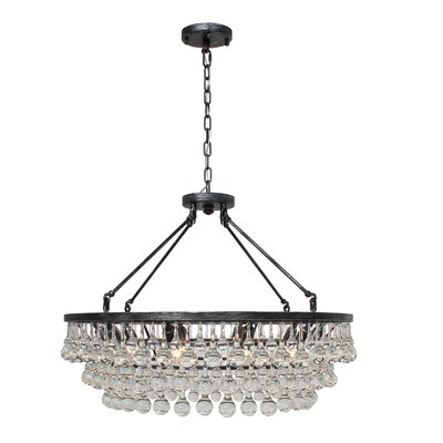 Sheneka 10-Light Crystal Chandelier Finish: Antique Silver
