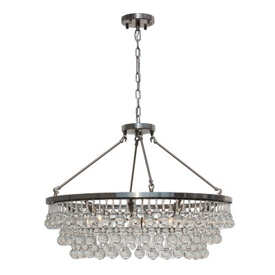 Sheneka 10-Light Crystal Chandelier Finish: Brushed Nickel