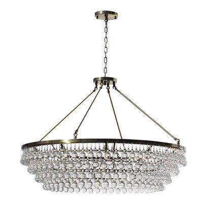 Jimmy 12-Light Crystal Chandelier Finish: Antique Brass, Size: 120 H x 48 W x 48 D