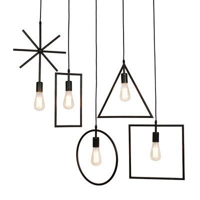 Garrin Rustic 5-Light Geometric Pendant