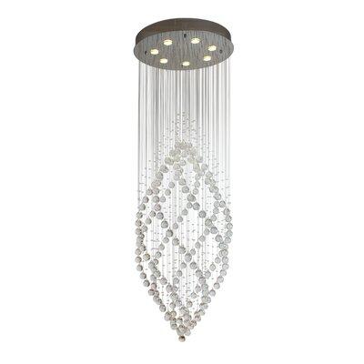 Woodford Rainfall 7-Light LED Crystal Pendant