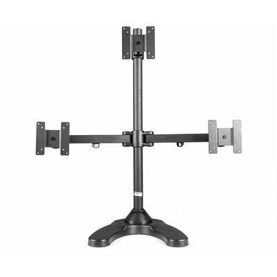 Freestanding Triangle Orientation Height Adjustable 3 Screen Desk Mount