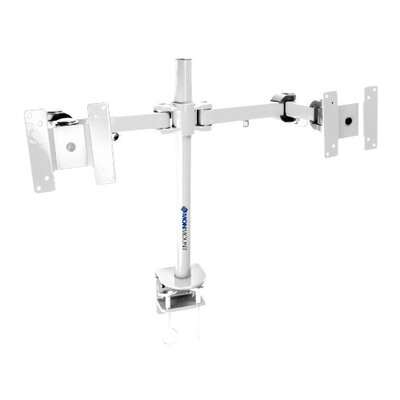 Stand Desk Clamp Height Adjustable 2 Screen Desk Mount Finish: White