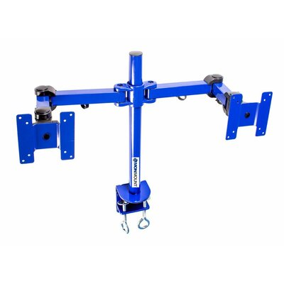 Stand Desk Clamp Height Adjustable 2 Screen Desk Mount Finish: Blue