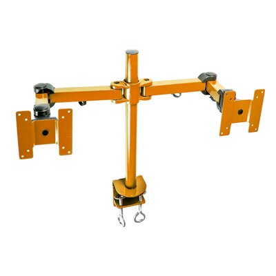 Stand Desk Clamp Height Adjustable 2 Screen Desk Mount Finish: Orange