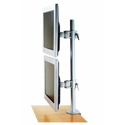 Dual LCD Vertical Monitor Swivel Desktop Mount for 27 LCD Screen