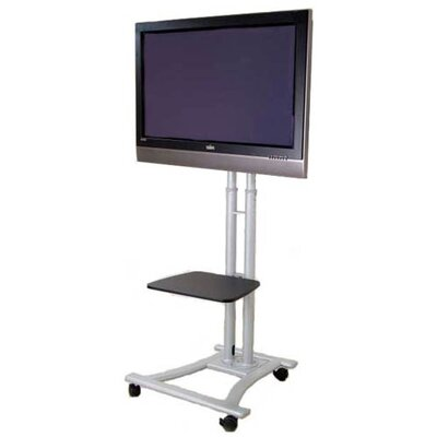 Mobile LCD / Plasma Television Fixed Floor Stand Mount for 60 LCD / Plasma Screen