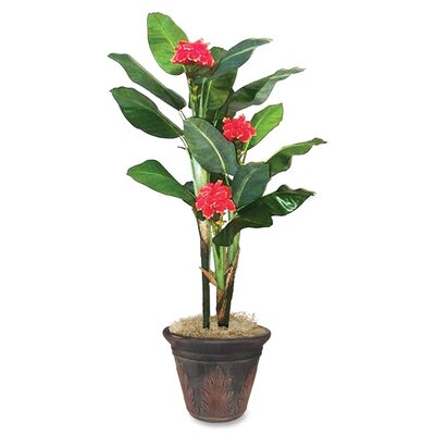 Nudell Artificial Flowering Banana Tree