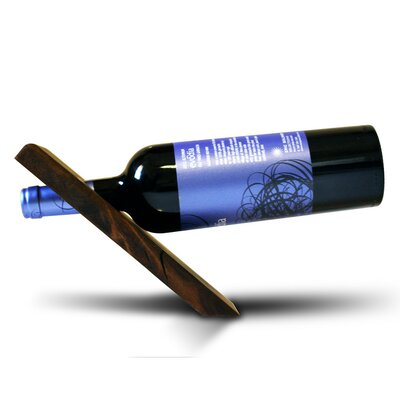 Vineyard 1 Bottle Tabletop Wine Rack Finish: Dark Walnut