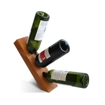 Vineyard 3 Bottle Tabletop Wine Rack