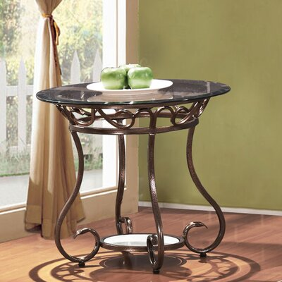 Christina Glass & Metal End Table