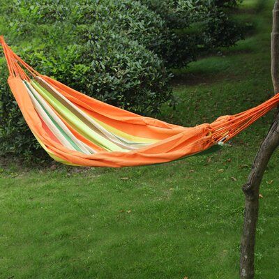 Naval Tree Hanging Suspended Indoor/Outdoor Cotton Tree Hammock Color: Tahiti, Size: 63 W x 118 D