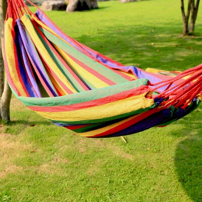 Naval Tree Hanging Suspended Indoor/Outdoor Cotton Tree Hammock Size: 63 W x 118 D, Color: Cayenne