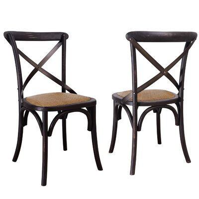 Sybilla Side Chair Finish: Black