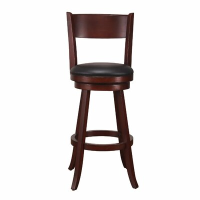 29 Swivel Bar Stool Finish: Dark Brown