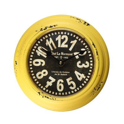 8.2 Retro Circular Large Numbers Chef Le Normand Wall Hanging Clock