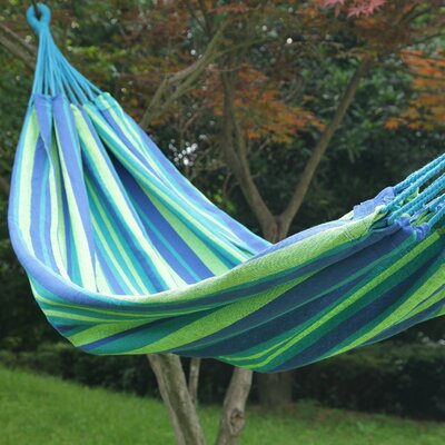 Naval Tree Hanging Suspended Indoor/Outdoor Cotton Tree Hammock Color: Oasis, Size: 40 W x 114 D