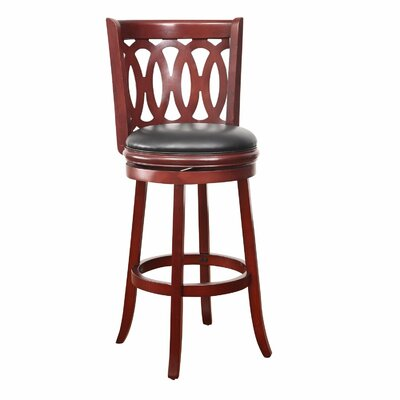 29 Swivel Bar Stool Finish: Walnut