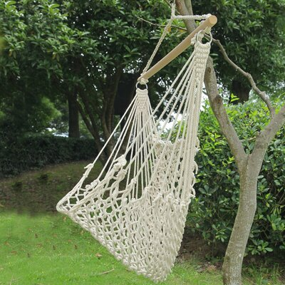 Woven Rope Tree Hanging Suspended Indoor/Outdoor Cotton Chair Hammock