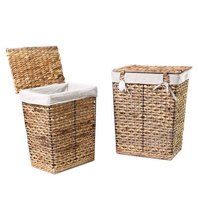 2 Piece Wicker Laundry Set