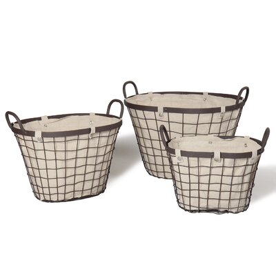 3 Piece Oval Urban Styled Basket Set