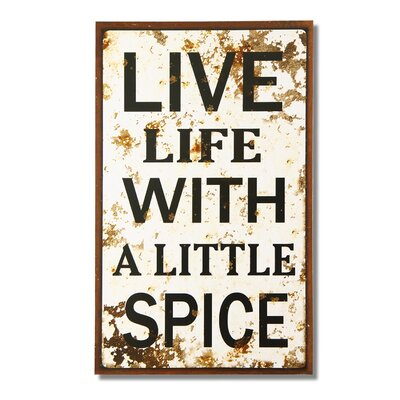 Life Live With A Little Spice Wall Decor