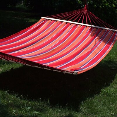 Naval Double Tree Cotton Hammock Color: Antigua