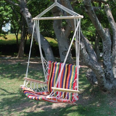 Naval Cotton Fabric Canvas Tree Hanging Suspended Outdoor Indoor Chair Hammock Color: Antigua Red
