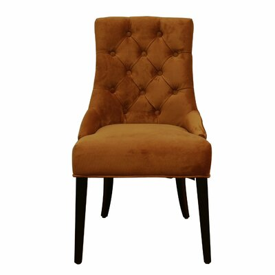 Side Chair Upholstery: Amber